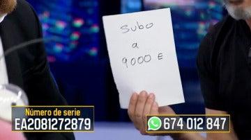 Ricardo Darín sube el valor del billete de 'El Hormiguero 3.0' de 6.000 a 9.000 euros
