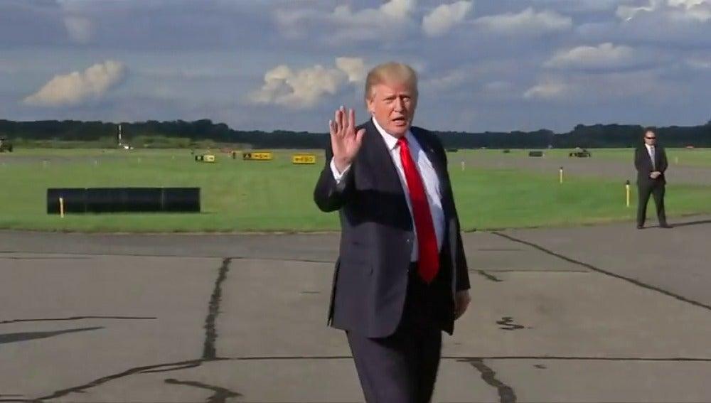 Trump llega a Nueva York para cuatro días de reuniones y estreno ante la ONU