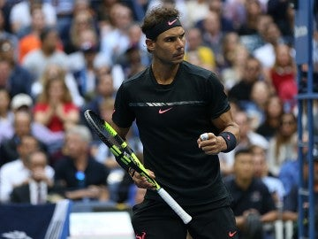 Rafa Nadal celebra un punto en el US Open