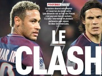 Neymar y Cavani enfrentados