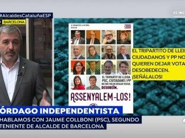 """El segundo teniente de alcalde de Barcelona, sobre la declaración de los alcaldes: """"Es consecuencia directa de socializar el conflicto"""""""