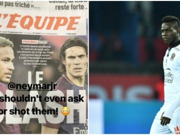 Balotelli manda un recado a Neymar