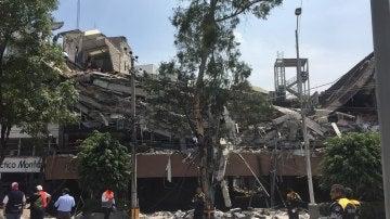 Vista de un edificio derruido