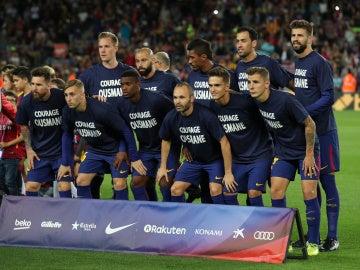 El Barcelona muestra su apoyo a Dembelé