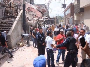 Caos en México tras el derrumbe de varios edificios por el terremoto