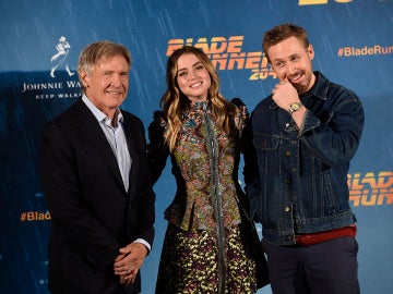 Los actores en la presentación en Madrid de 'Blade Runner 2049'