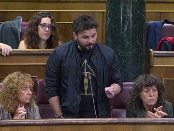 """ERC desafía a Rajoy y abandona el Pleno del Congreso: """"Quite sus sucias manos de Cataluña"""""""