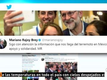 Los políticos españoles publican muestras de cariño y mensajes de solidaridad hacia México en las redes sociales