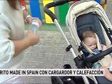 Un joven valenciano diseña un carrito de bebé inteligente