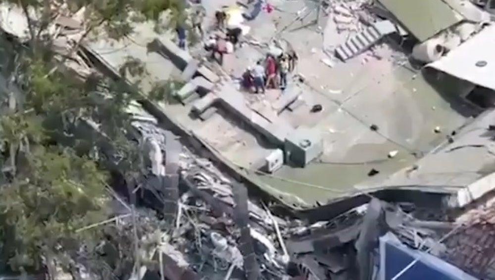 El terremoto de México, desde un dron