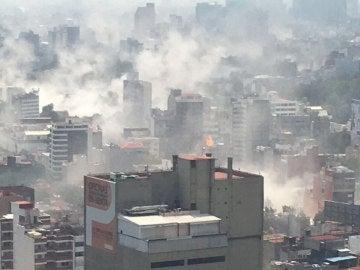 Ciudad de México envuelta en el caos