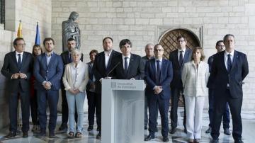 Puigdemont, en rueda de prensa
