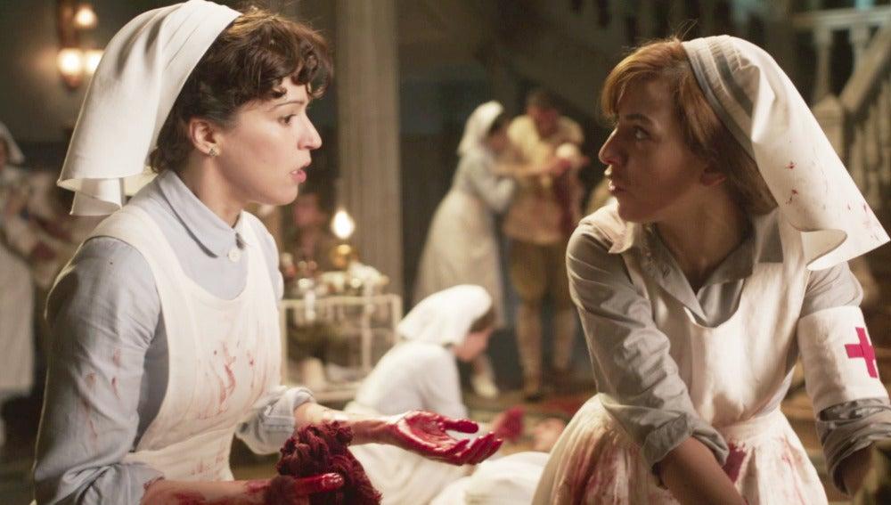 Las Damas Enfermeras viven el horror de la guerra en su primer servicio en Melilla