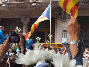 Protestas en Barcelona por las detenciones y registros de la Guardia Civil