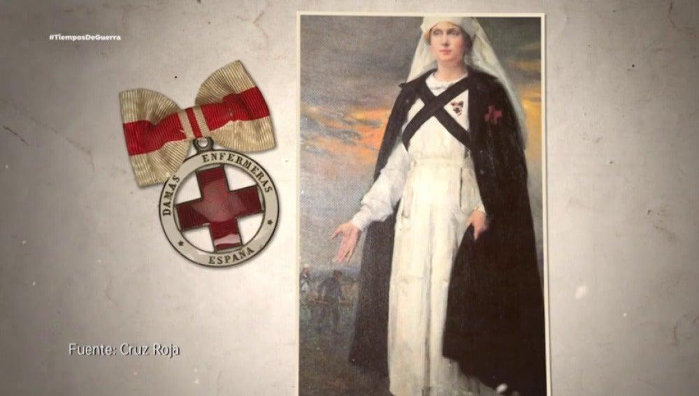 El papel de Carmen Angoloti en la Cruz Roja, una mujer de armas tomar
