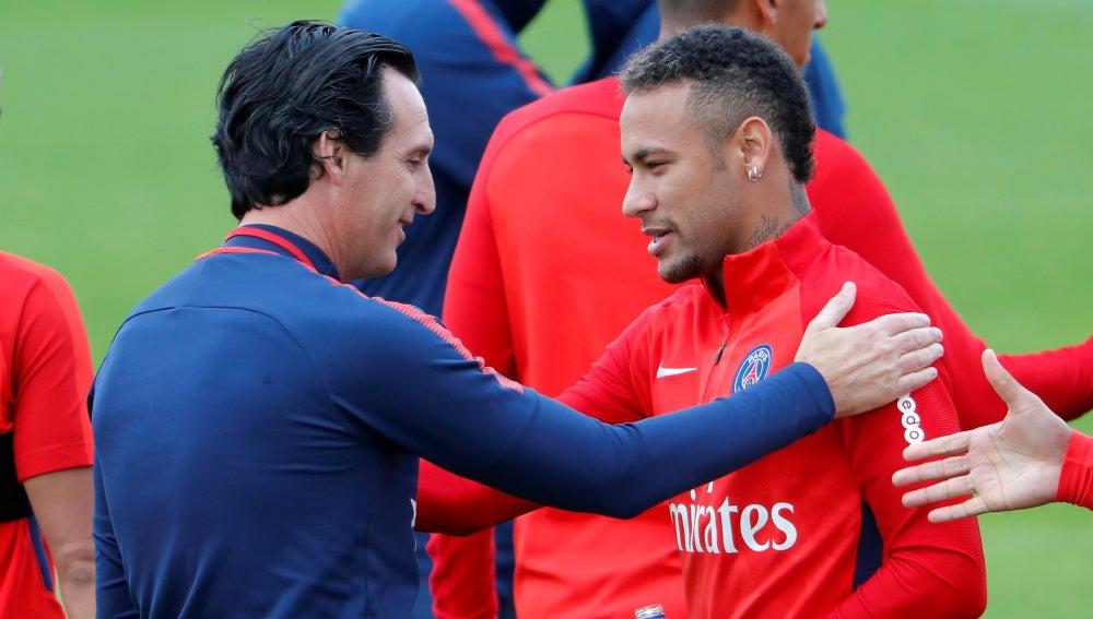 Emery con Neymar