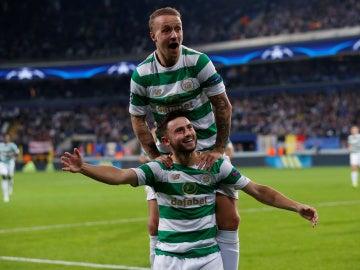 El Celtic de Glasgow celebra uno de los goles ante el Anderlecht
