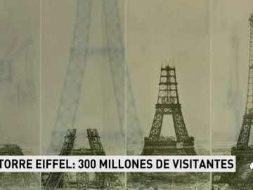La Torre Eiffel ha recibido 300 millones de visitantes desde su apertura al público en 1889