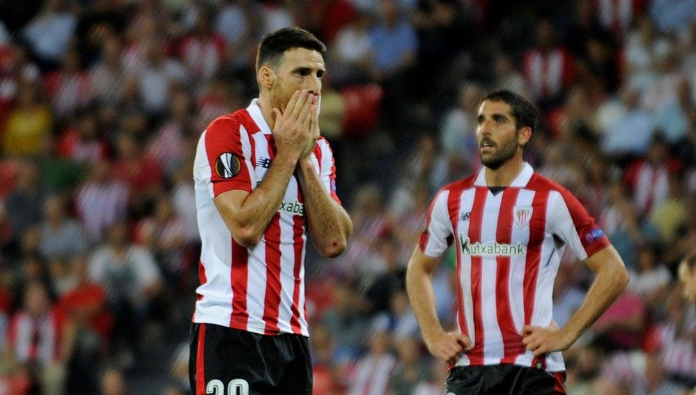 El Athletic se lamenta de la derrota en la Europa League