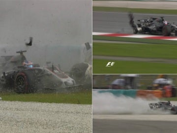 El accidente de Grosjean en Malasia