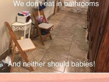 Así era la sala donde obligaron a amamantar a algunas madres