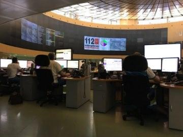 Sala de atención telefónica de 112 Comunidad de Madrid