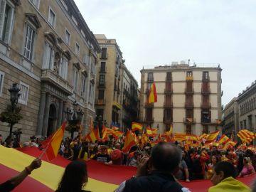 Manifestación contra el referéndum en Barcelona