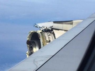 Motor calcinado del Airbus