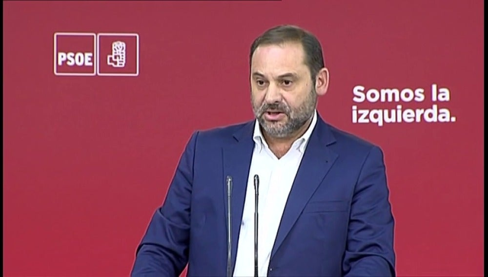 """José Luis Ábalos: """"El govern se ha instalado en la desobediencia y lamentablemente el gobierno de España parece superado por esta situación"""""""