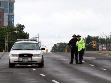 La policía canadiense, en Edmonton