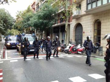 La Policía Nacional interviene en Alcarrás, en Girona