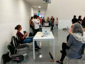 Votaciones en el Centro de Cultura Contemporánea de Barcelona
