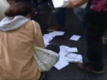 Polémica sobre la caída de papeletas