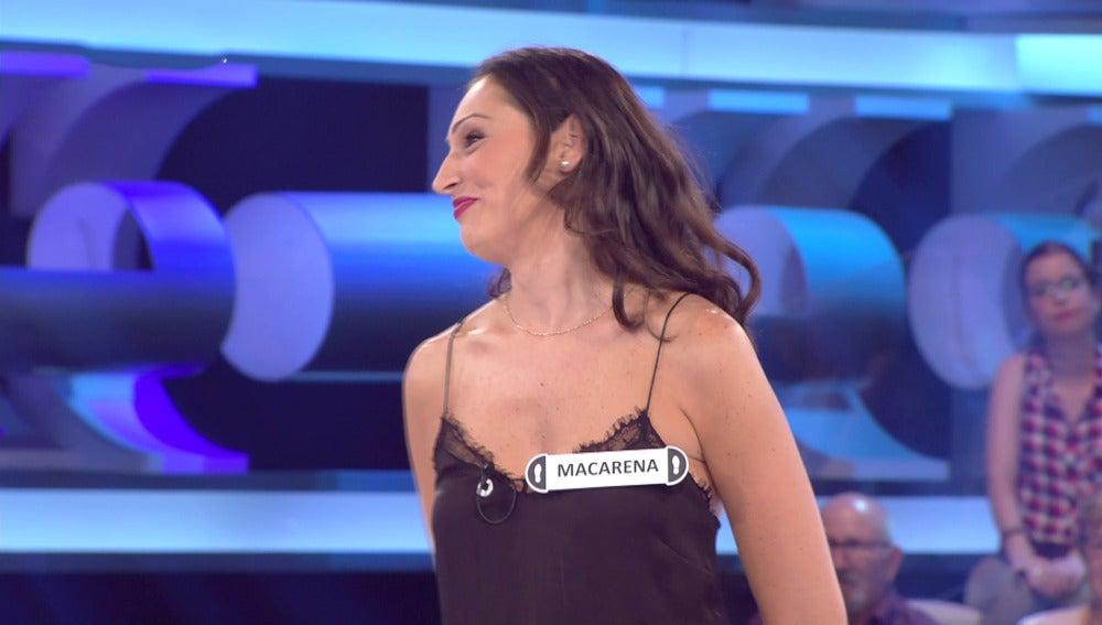Macarena, concursante de '¡Ahora Caigo!'
