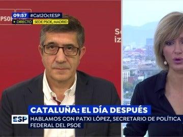 """Patxi López: """"Ayer fue un día muy triste y preocupante para la democracia"""""""