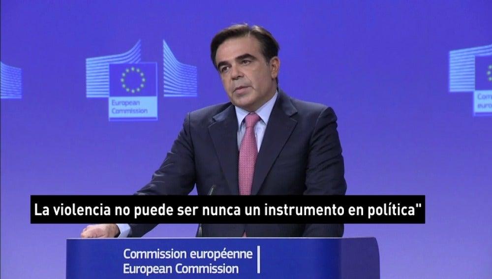 """La UE apoya el Gobierno tras el 1-O pero pide """"diálogo"""": """"La violencia nunca puede ser un instrumento en política"""""""