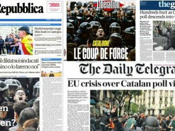 Portadas de la prensa europea