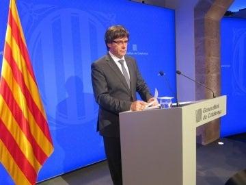 Carles Puigdemont ante los medios