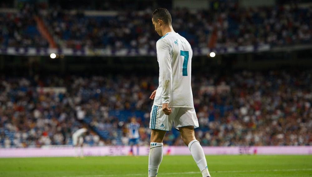 Cristiano Ronaldo, cabizbajo en un partido con el Real Madrid