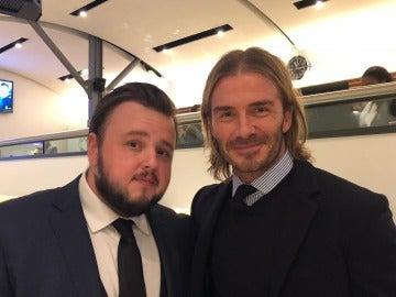 John Bradley-West y David Beckham