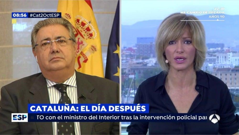 Juan Ignacio Zoido, en una entrevista en Espejo Público
