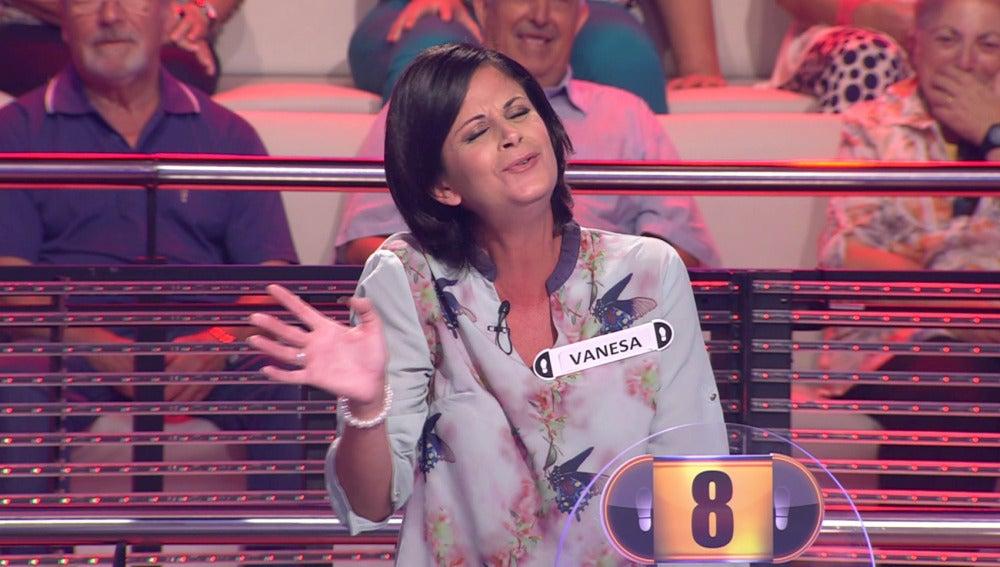 Vanesa, concursante de '¡Ahora Caigo!'