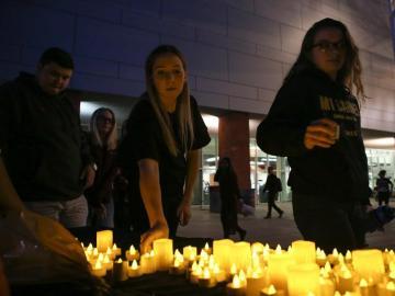 Homenaje a las víctimas de Las Vegas