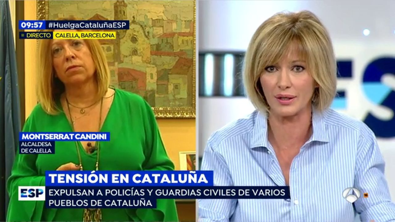 Susanna griso a la alcaldesa de calella no hay derecho for Espejo publico hoy completo