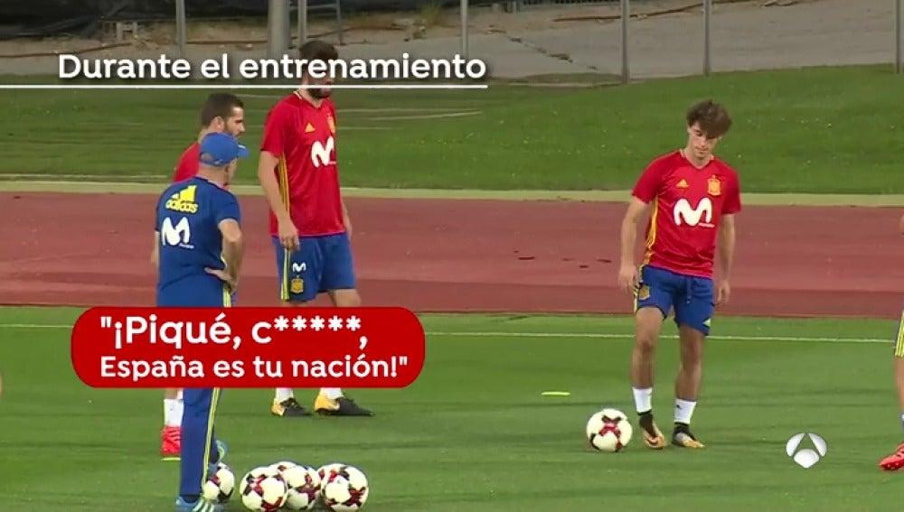"""Larrea niega que haya problemas con Piqué en la Selección: """"El ambiente no está enrarecido en absoluto"""""""