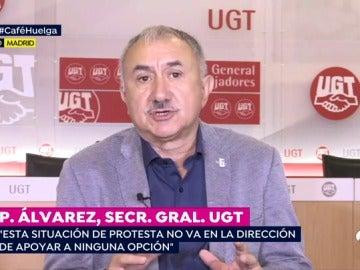 """El secretario general de UGT: """"En ningún caso avalamos la declaración unilateral de independencia"""""""