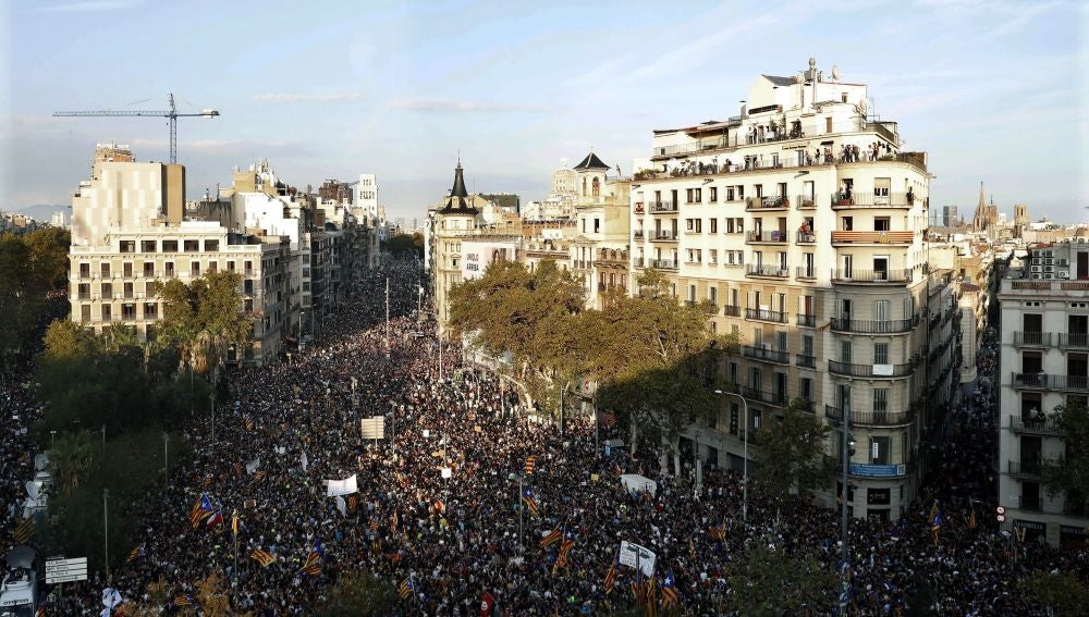 Vista general de la plaza de la Universidad de Barcelona