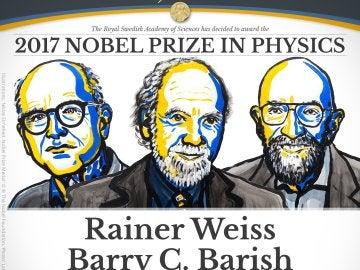 El Nobel de Física 2017 premia a los tres descubridores de las ondas gravitacionales