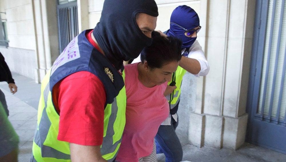 Una de las tres personas detenidas