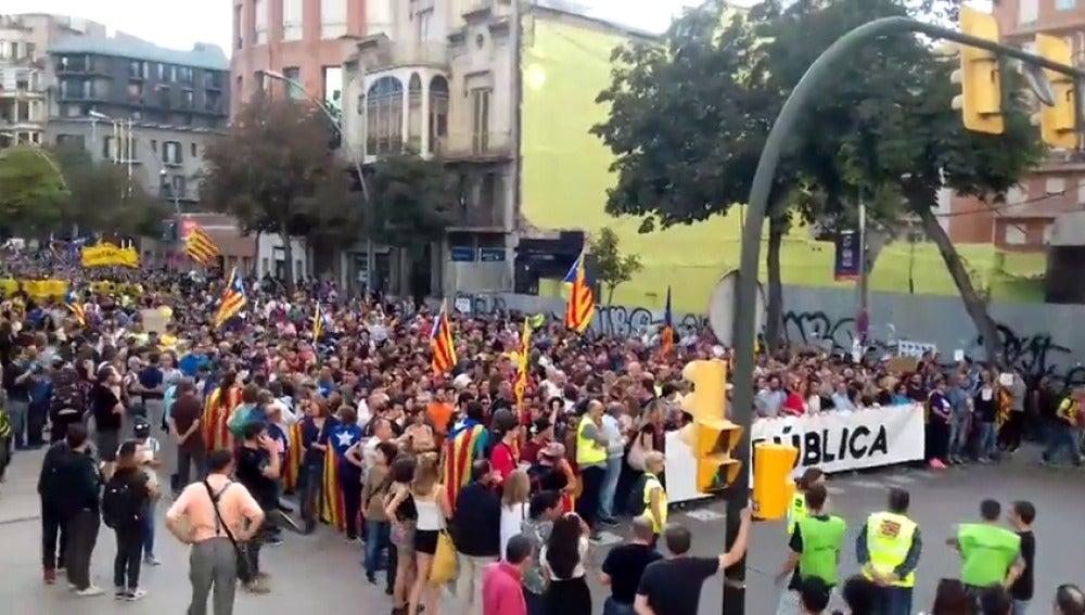 Manifestación en Girona
